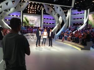 Chauffeur de Salle pour le Canal Rugby Club avec Isabelle Ithurburu, Marc Lièvremont et Sébastien Chabal. dim 11 sept 2016