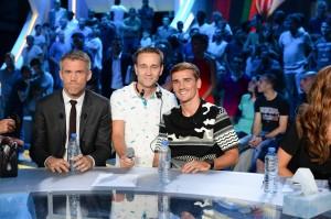 Chauffeur de Salle pour le Canal Football Club le 28 août avec Mickaël Landreau et Antoine Griezmann