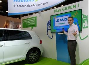 Animateur, Présentateur Quizz Bioéthanol Hall 3 Mondial de l'Automobile jusqu'au 16 octobre 2016